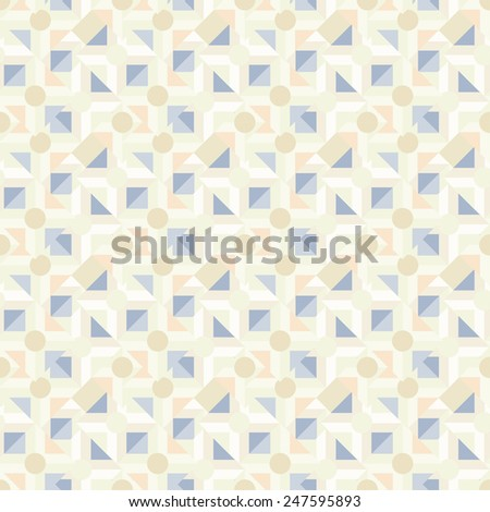 Abstract light geometric seamless pattern. Modern monochrome repeating texture  - stock vector
