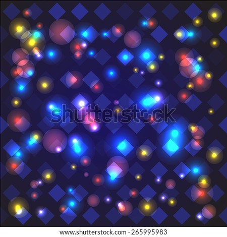 abstract light geometry background  with glossy particle for your presentation or texts/ - stock vector