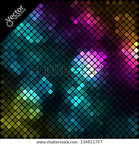 Abstract Light Mosaic Vector Background - stock vector