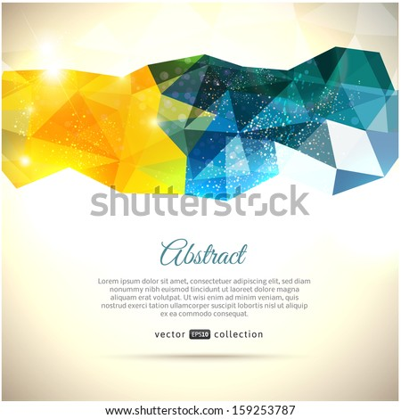 Abstract light polygonal vector background. Triangles. - stock vector