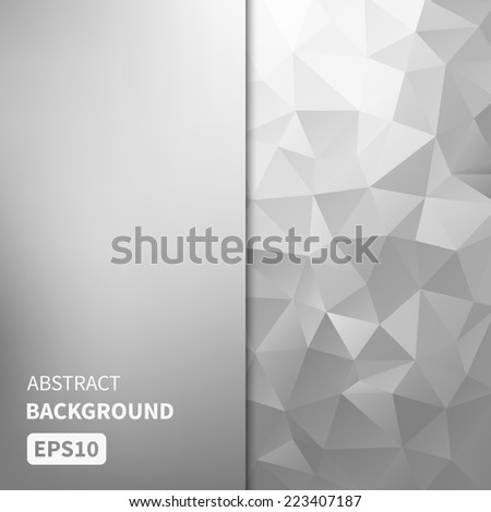 Abstract light silver vector background with triangles EPS10 - stock vector