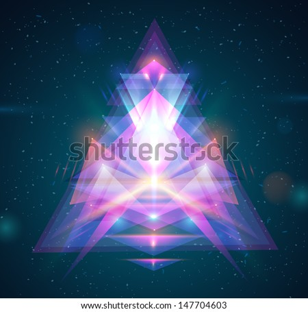 Abstract light triangle background - vector illustration. - stock vector