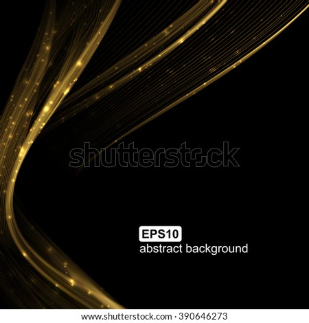 Abstract light wave futuristic background. Vector illustration. - stock vector