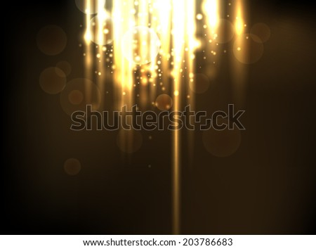 Abstract lighting background - stock vector