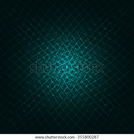 Abstract lights aqua strips on dark background - stock vector
