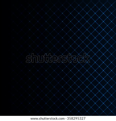 Abstract lights azure strips on dark background - stock vector