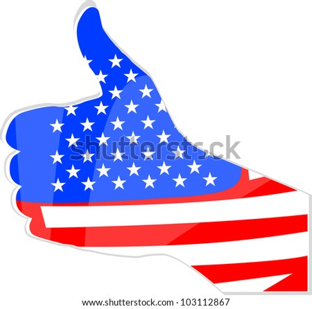 abstract like hand united states flag - stock vector