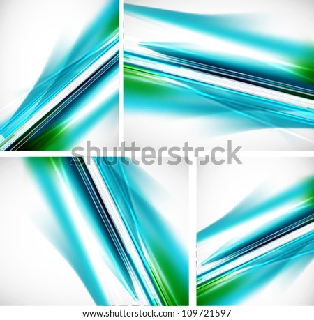 Abstract line background set - stock vector
