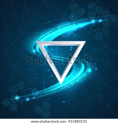 Abstract line light effect background - stock vector