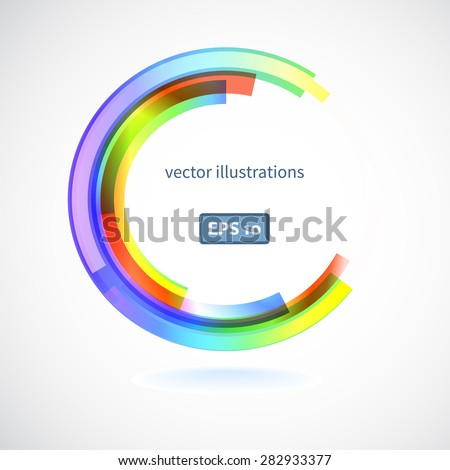 Abstract line Rainbow color design element . Abstract artistic background with space for text. Vector illustration/ EPS 10 - stock vector