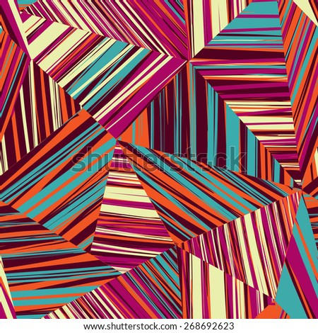 Abstract line seamless pattern. Tiled geometric background - stock vector
