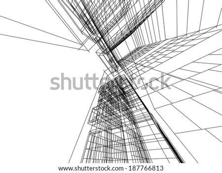 Stock images similar to id 94151584 abstract blue for Linear architecture design