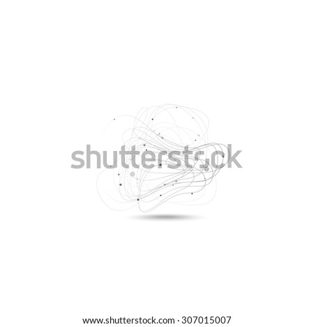 Abstract lines on the gray background. Vector. - stock vector