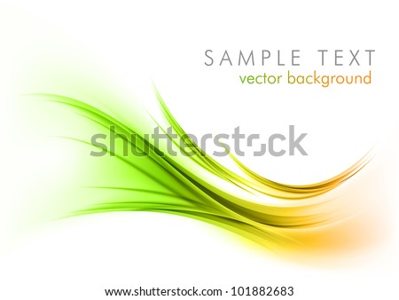 abstract lines on the light background - stock vector
