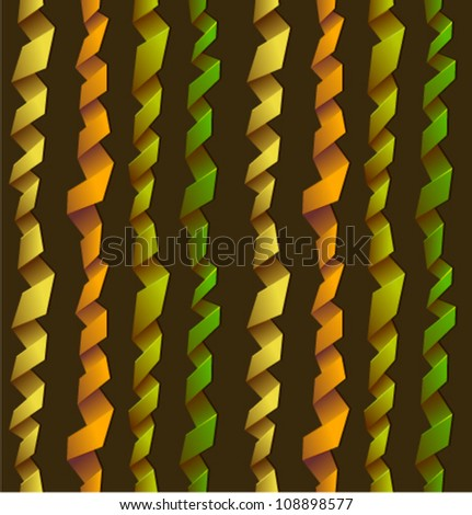 Abstract lines. Seamless background with paper streamer. Vector. - stock vector