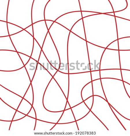 Abstract lines. Seamless ropes  - stock vector