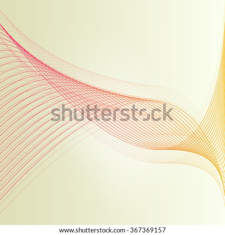 Abstract lines wave background vector illustration concept with transparent elements - stock vector