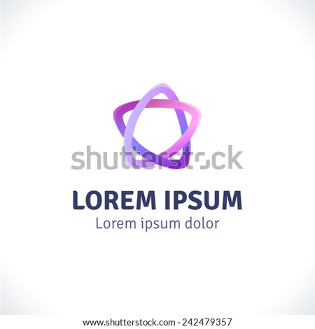 Abstract Logo template. Corporate icon, logotype. Brand, visualization. Vector abstract element for banner, business card, poster, corporate identity, presentation, app and web design. - stock vector