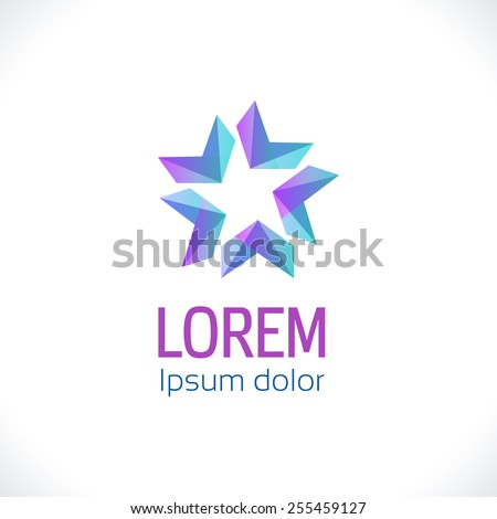 Abstract Logo template. Corporate logo icon, logotype. Brand visualization. Vector abstract logo element for banner, business card, poster, corporate identity, presentation, app logo and web design. - stock vector