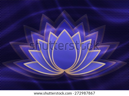 Abstract lotus flower - stock vector