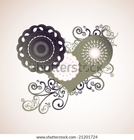abstract love - stock vector