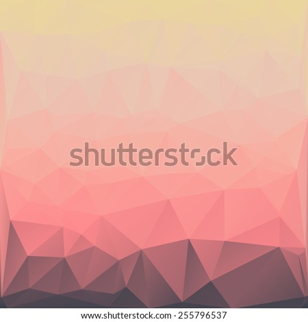 Abstract low poly background, geometry triangle, mosaic background - stock vector