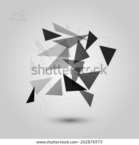 Abstract low poly geometric technology vector design element. Connection structure. Vector data science background. Polygonal vector background. Molecule And Communication Background. eps 10 - stock vector