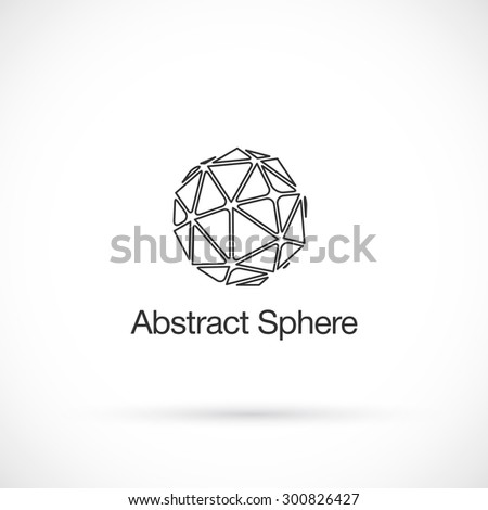 Abstract low poly, logo design vector template. - stock vector