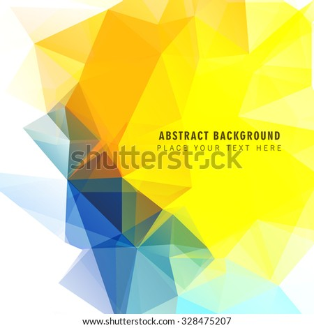 abstract low-poly polygonal triangular mosaic colorful background - stock vector
