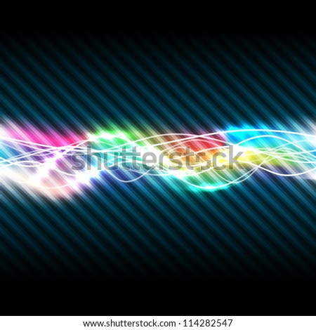 Abstract magic light of rainbow, vector illustration, eps10, 2 layers - stock vector