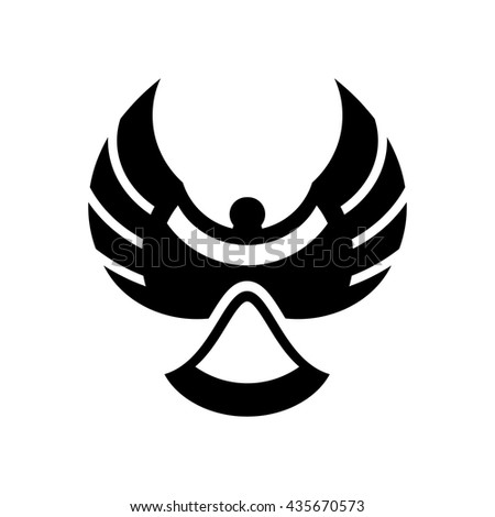 Abstract magpie bird silhouette vector illustration isolated on white background. - stock vector