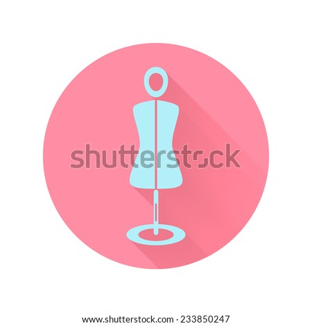 abstract mannequin icon. flat style vector illustration - stock vector