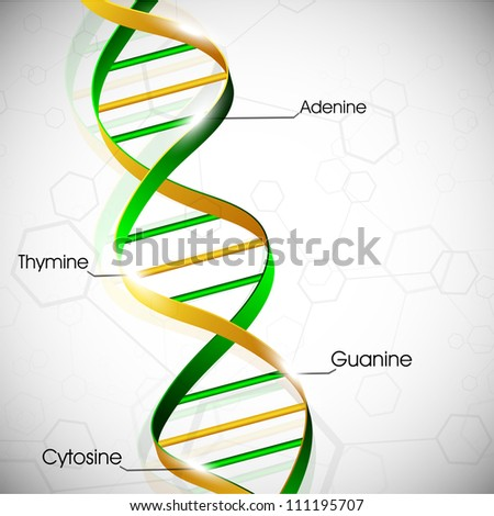 Abstract medical background with colorful DNA. EPS 10. - stock vector