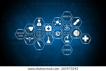 abstract medical health care and science concept background - stock vector