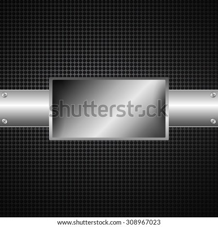 Abstract metal  background for design - stock vector