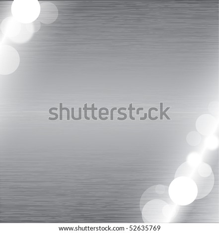 Abstract metal surface texture with glowing lights - stock vector