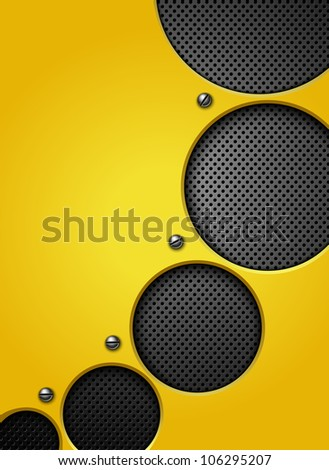 Abstract metallic background. Vector illustration. - stock vector