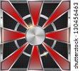 Abstract metallic vector background. - stock vector