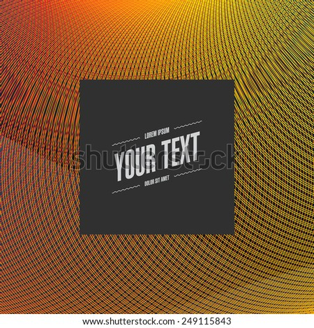 Abstract minimal futuristic graphic design with your text  Eps 10 stock vector illustration  - stock vector