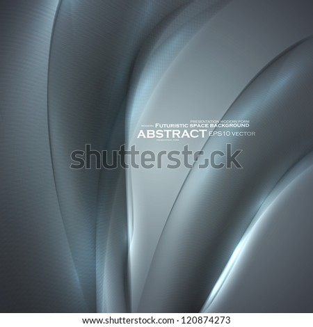 Abstract minimalistic elements, futuristic illustration, vector background - editables eps10. - stock vector