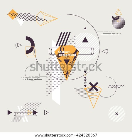 Abstract minimalistic flat background - stock vector