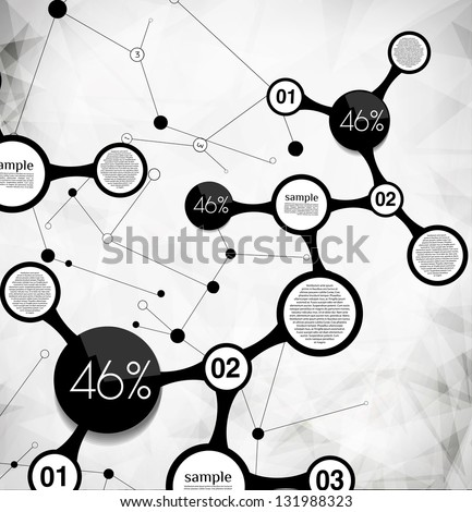 abstract modern background  for options, can be used for website, info-graphics, banner. - stock vector
