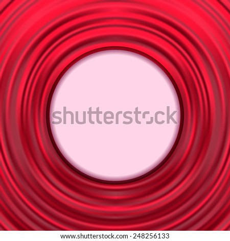 Abstract modern background. Silk red frame. Cover design template for brochure, flyer, business presentations. Vector illustration. Editable. Space for text. - stock vector