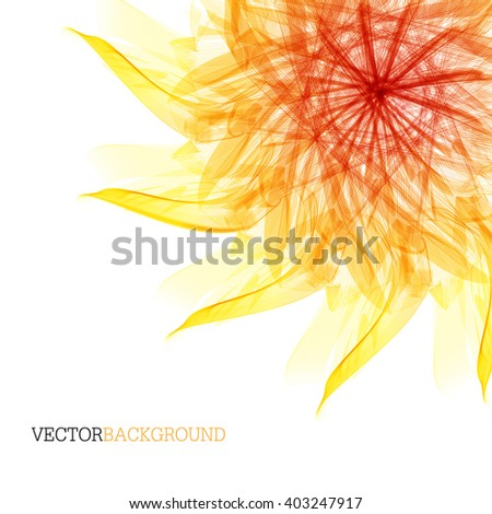 Abstract modern background with flower. desktop background. vector  - stock vector