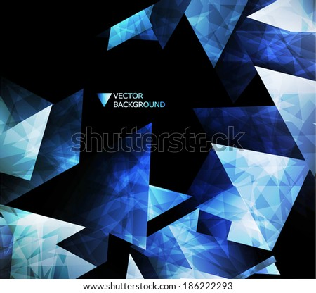 Abstract modern background with polygons. - stock vector