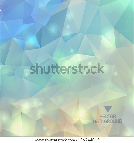 Abstract modern background with polygons/ geometric wallpaper - stock vector
