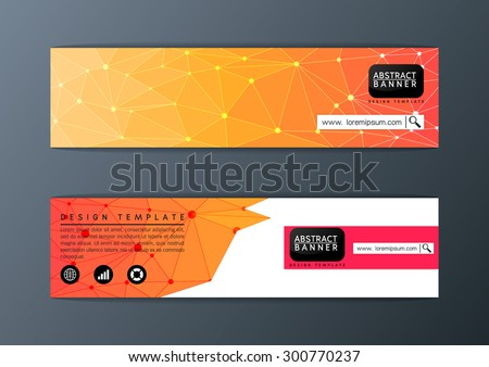 Abstract modern banner polygon background design template-Vector illustration - stock vector