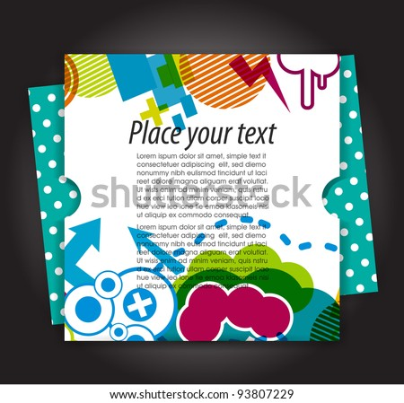 Abstract modern banner theme background with circles and splash, Vector Illustration cards - stock vector