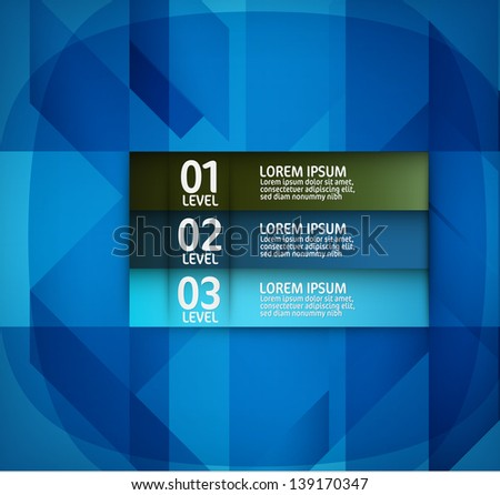 Abstract Modern Blue Design Layout - stock vector
