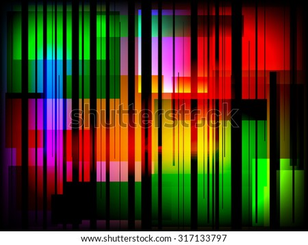 Abstract modern colors squares with shattered effect - stock vector